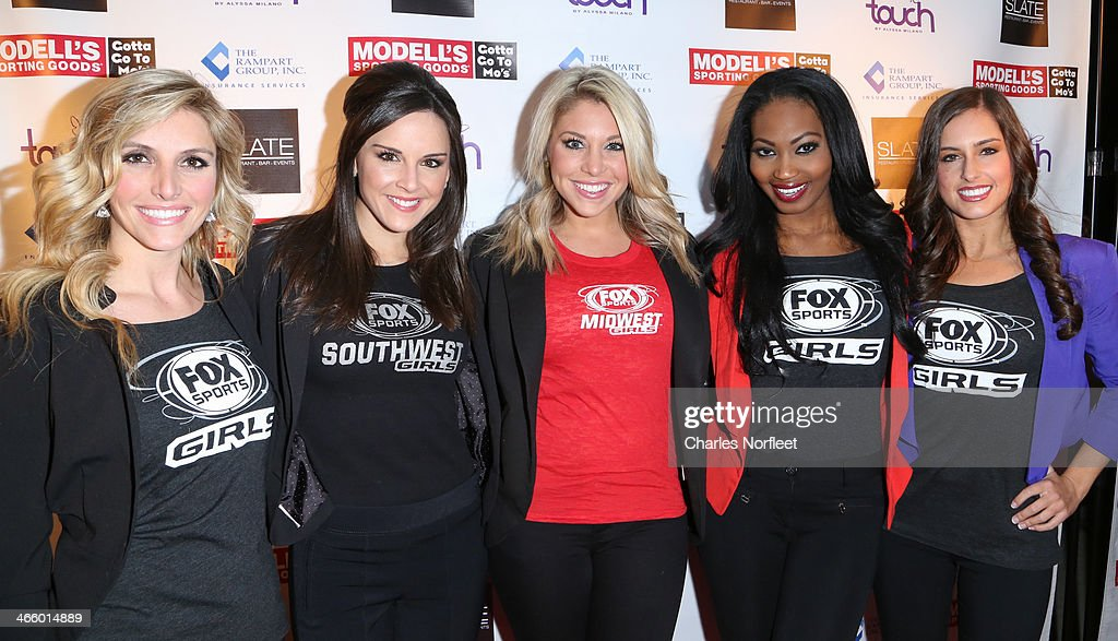 The Fox Sports Girls attend Modell's Super Bowl Kickoff Party & Touch By Alyssa Milano Fashion Show at Slate on January 30, 2014 in New York City.