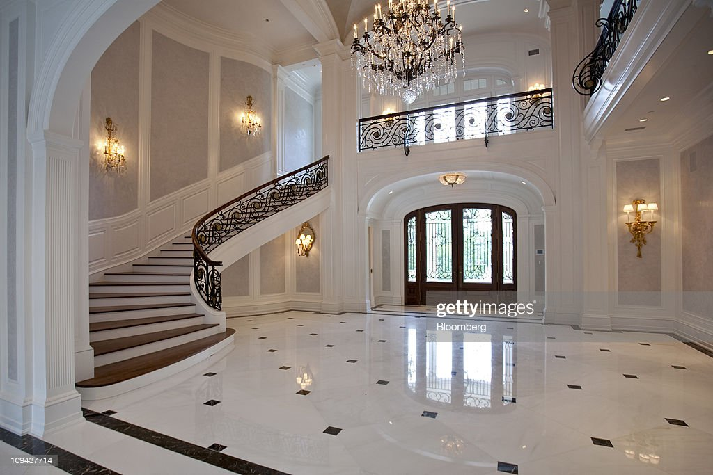 The Foyer Of The Newly Constructed Stone Mansion Is Seen In Alpine