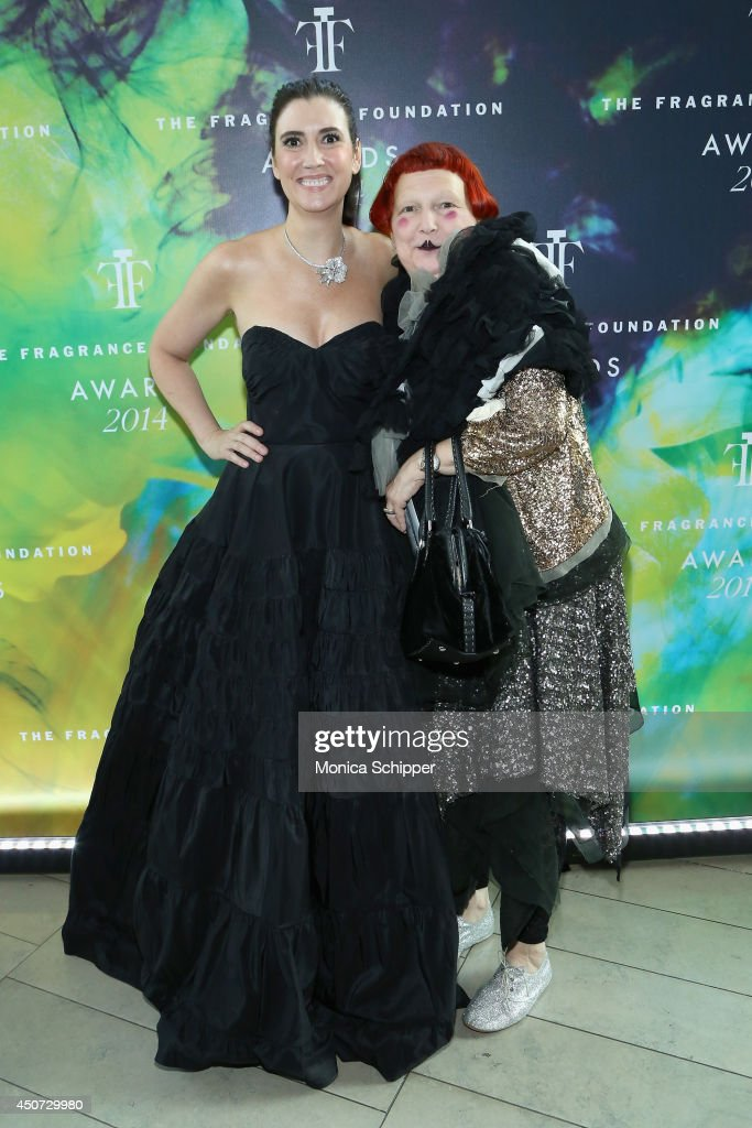 The Fragrance Foundation President, <a gi-track='captionPersonalityLinkClicked' href=/galleries/search?phrase=Elizabeth+Musmanno&family=editorial&specificpeople=9697034 ng-click='$event.stopPropagation()'>Elizabeth Musmanno</a> and Vogue Fashion Editor Lynn Yaeger attend the 2014 Fragrance Foundation Awards on June 16, 2014 in New York City.
