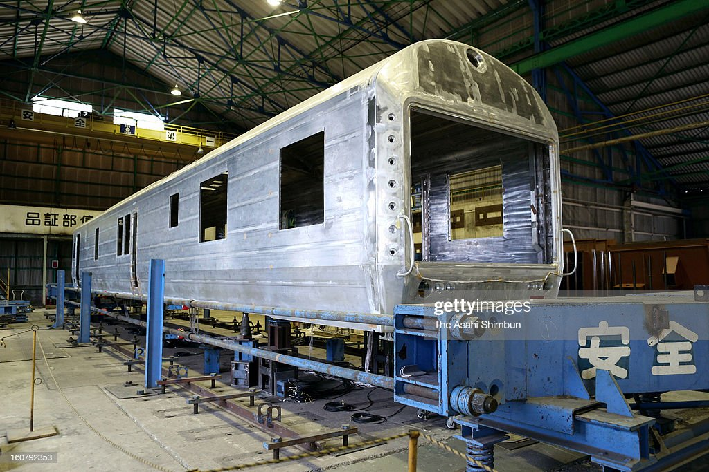The frame of the rear coach of JR Kyushu's luxury train 'Nanatsuboshi' is seen during a press preview at Hitachi Ltd Kasado Factory on February 5, 2013 in Kudamatsu, Yamaguchi, Japan. The coach, will be used as 'Deluxe Suite' carriage, will cost 1.1million Japanese yen (approximately 11,710 U.S. Dollars) for 3 nights travel for two people. The train will be in service in October 2013.