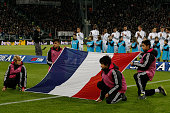The France flag before the serie A match between Juventus FC and AC Milan at the juventus stadium on november 21 2015 in torino italy