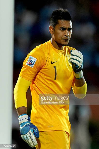 The France goalkeeper Alphonse Areola looks on during the FIFA U20 World Cup Round of 16 match between France Turkey at Kamil Ocak Stadium on July 2...