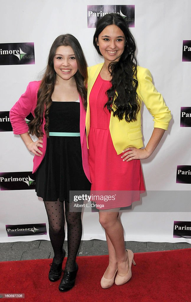 The Franklin Girls arrive for the All Ages Valentine Bash 2013 held at Infusion Lounge on February 2, 2013 in Universal City, California.
