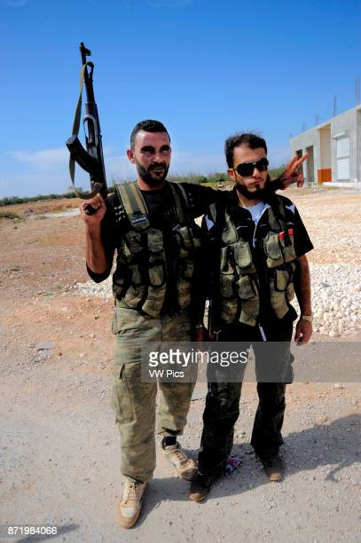 The Free Syrian Army the main armed rebel group fighting President Bashar alAssad's government Azaz a stegic town roughly 30 kilometres...