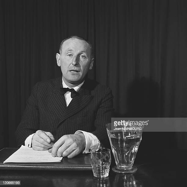 The french actor Bourvil in 1950s