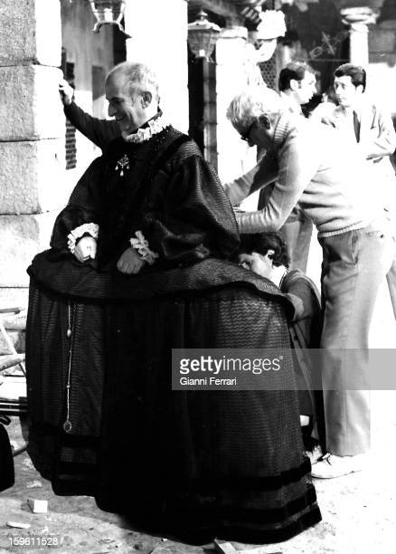 The French actor Louis de Funes during the filming of the movie 'Delirios de Grandez' Madrid Castilla La Mancha Spain