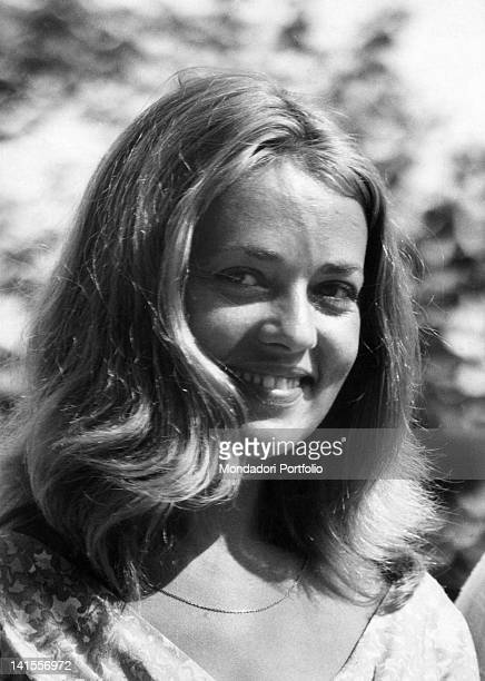 The French actress Jeanne Moreau smiling at the 19th Venice International Film Festival Venice August 1958