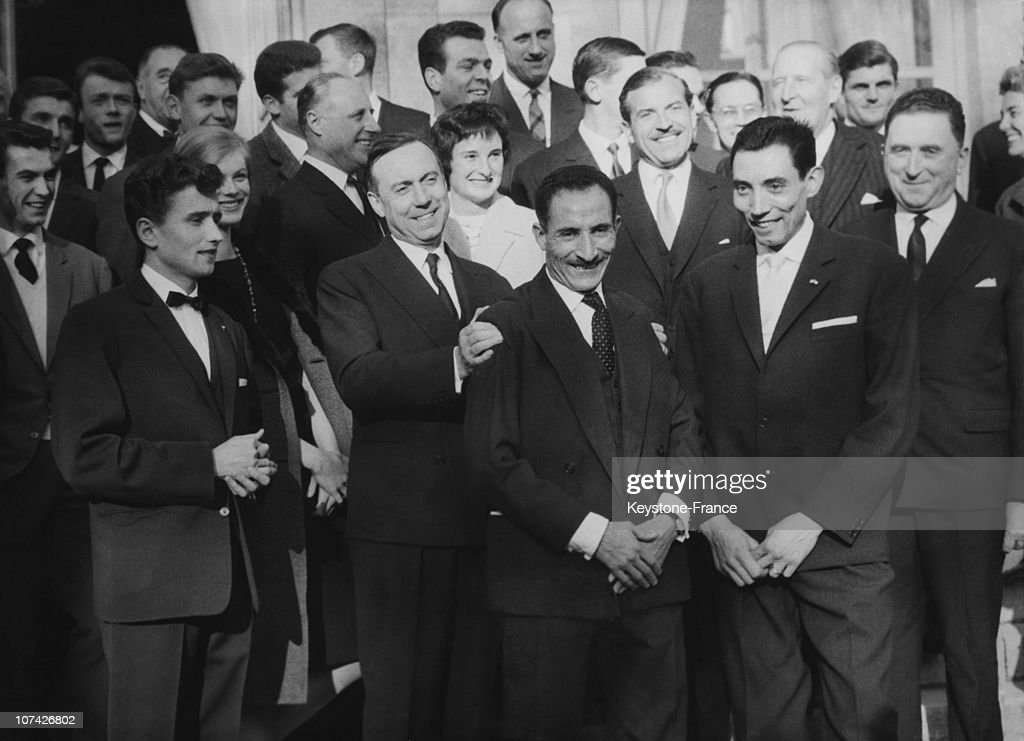 The French Athletes Received In The Hotel Matignon By Mister Debre At Paris In France On January 13Rd 1962