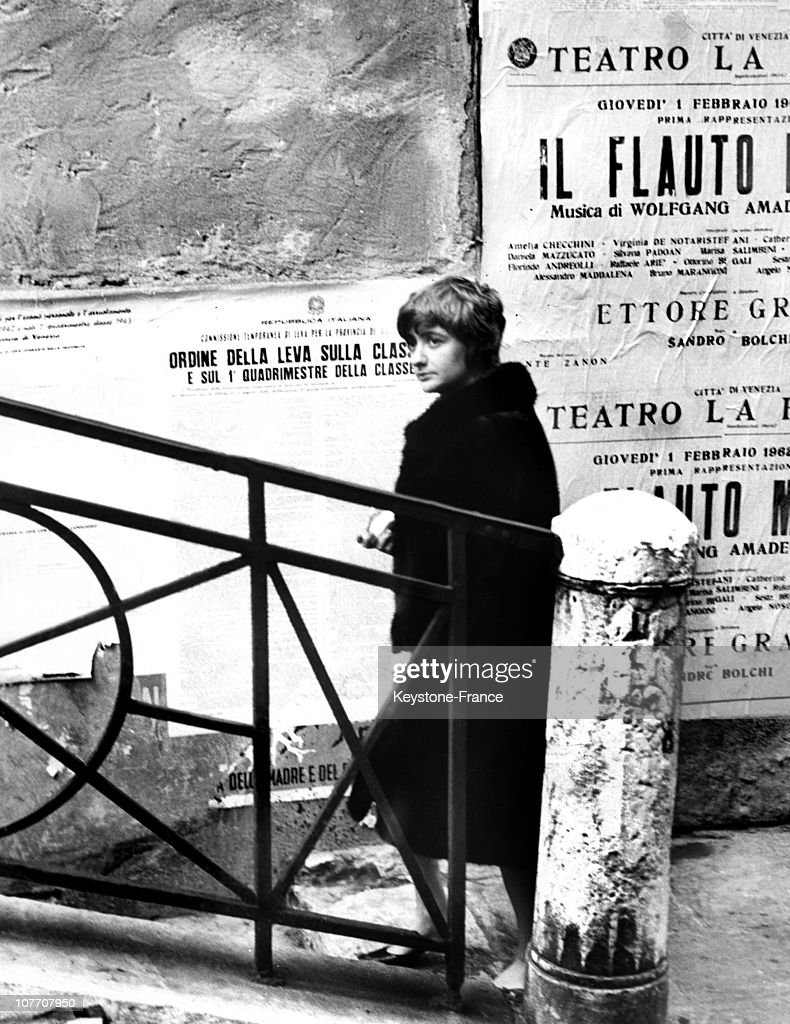 ITALY CIRCA 1962 The French Author On Vacation Shortly After Her Marriage With Robert Wertoff