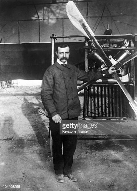 The French aviator Louis BLERIOT a short time after his performance the first flight across the Channel by airplane