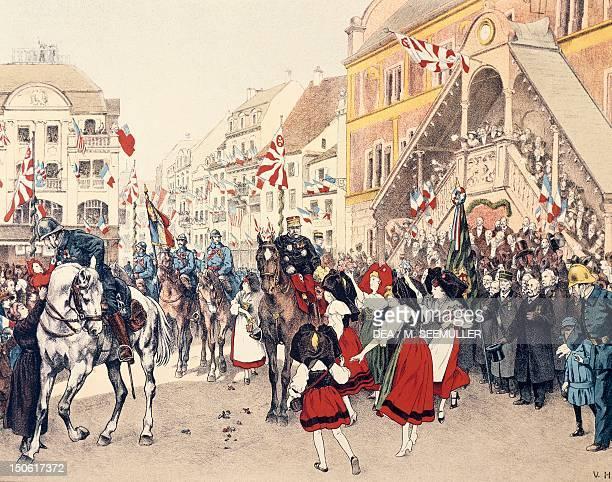 The French entering Mulhouse November 17 print World War I France 20th century