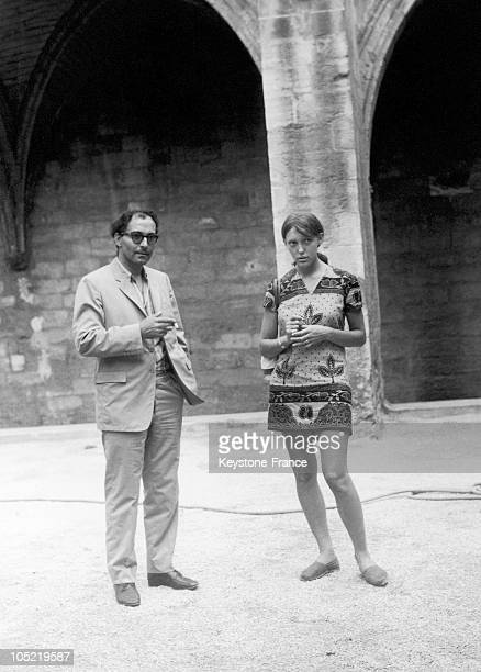 The French FilmMaker JeanLuc Godard And His Young Wife The Actress Anne Wiazemsky In Avignon On July 29 1967