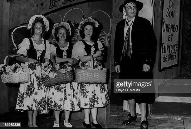 JUL 19 1946 The French flower girlsJoan Kruger Yvonne Danielson and Win Linsenmaier Howard Scott as 'Rudolfo' Robert Marietta' a huge success