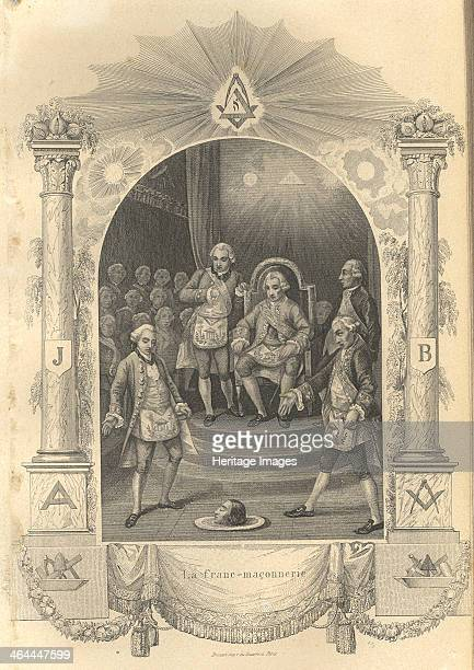 The French Freemasons ceremony 1844 From a private collection