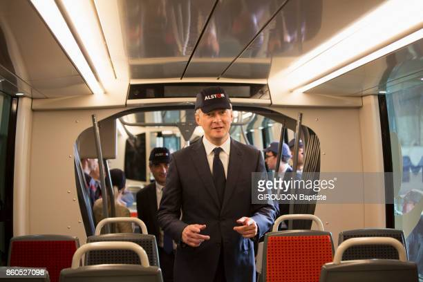 FORET VALENCIENNES FRANCE SEPTEMBER 29 The French Minister of Economy is photographed for Paris Match at Alstom firm at PetitForet on September 29...
