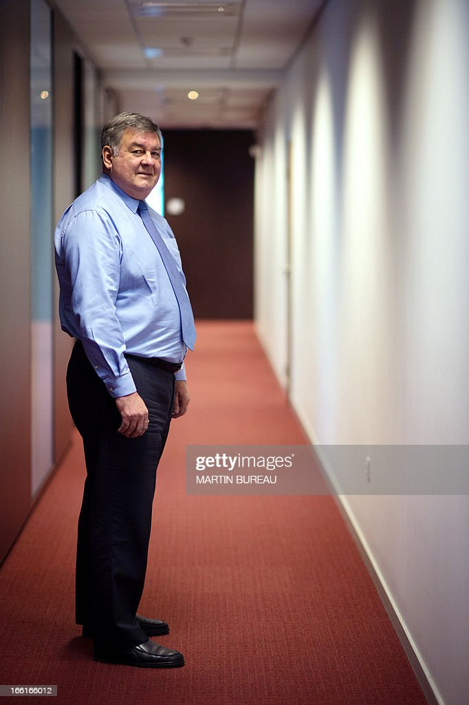The French national mediator of the French state-run employment agency, Pole Emploi, Jean-Louis Walter, poses on April 9, 2013 in Paris.