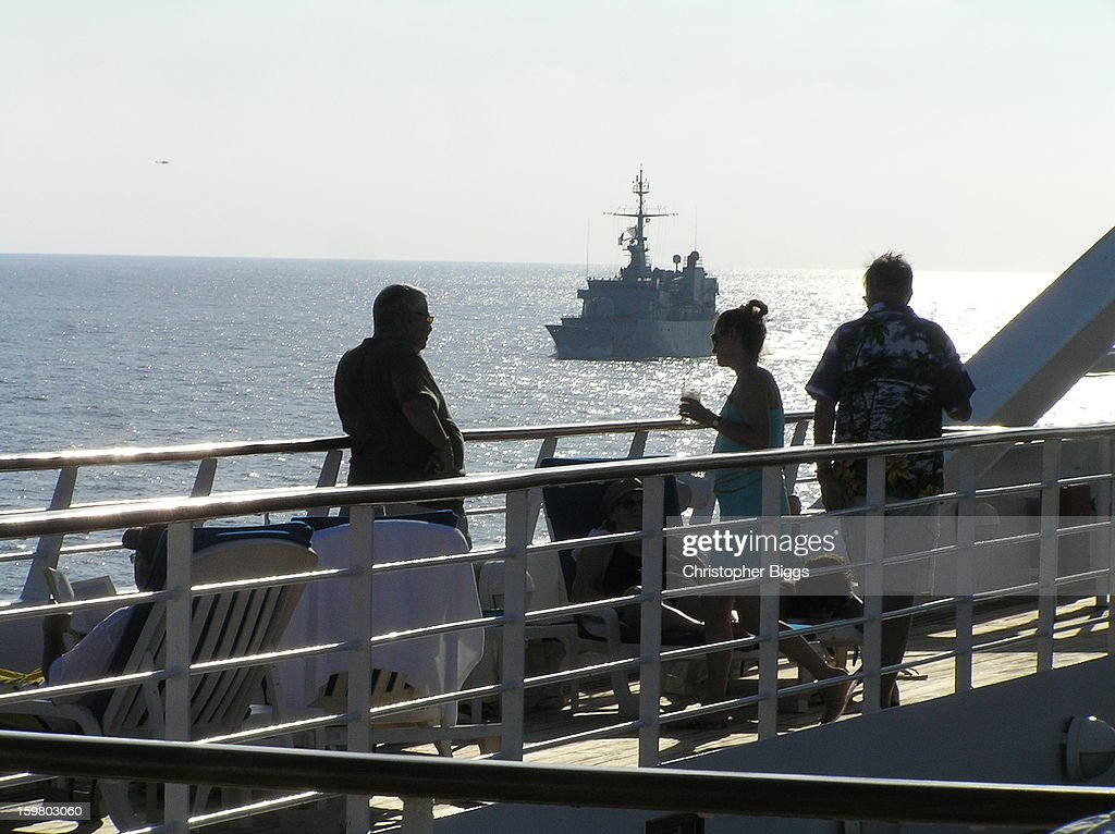 CONTENT] The French Navy Floreal Class small patrol frigate F732, The Nivose, from on board the Seabourn Spirit. This was taken while The Nivose was protecting a convoy of ships sailing through the Gulf of Aden, near Somalia, just after one of the most brazen hijacking by pirates of a supertanker for a randsom in October 2008.