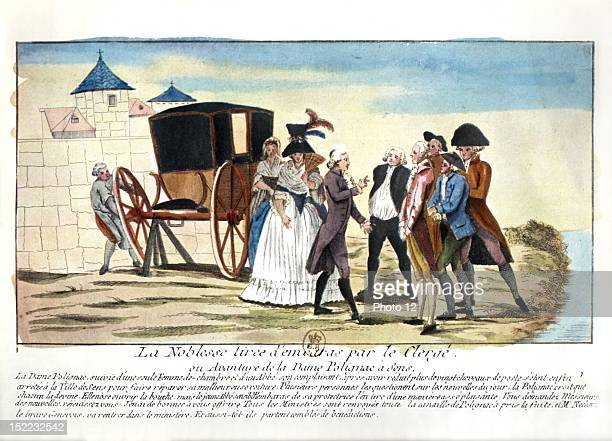 The French nobility begins to emigrate under the French Revolution MarieAntoinette's relatives Madame de Polignac the princes of Lanbesc of Vaudemont...