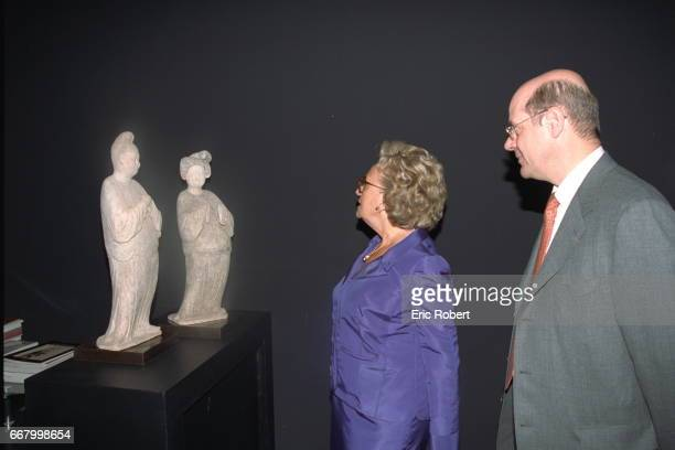 The French President's wife a the 20th Biannual Antiques Show which was held at the Carrousel at the Louvre in Paris