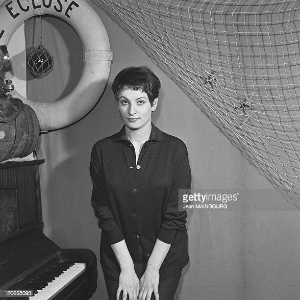 The French singer Barbara in 1950s