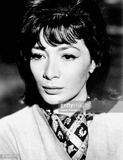 The French singer Juliette Greco Madrid Spain