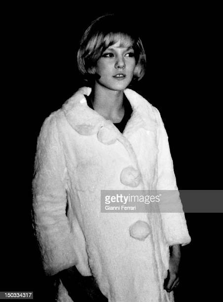 The French singer Sylvie Vartan in Barcelona Barcelona Spain