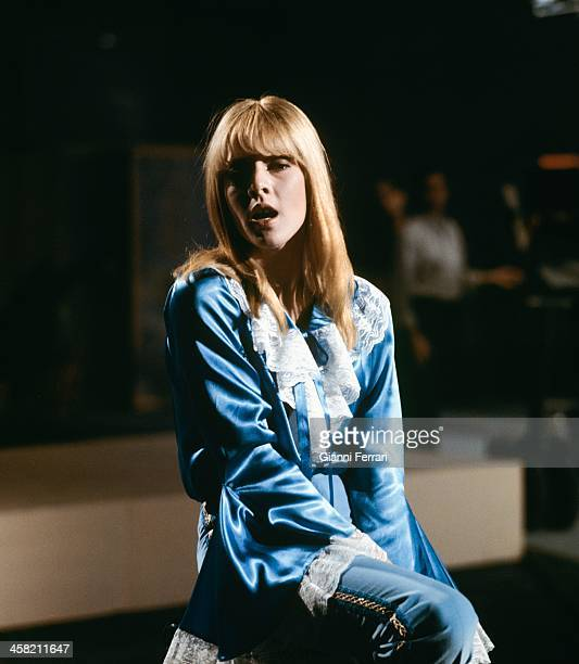 The French singer Sylvie Vartan in the spanish TV program 'Gran Parada' 14th September 1968 Madrid Castilla La Mancha Spain