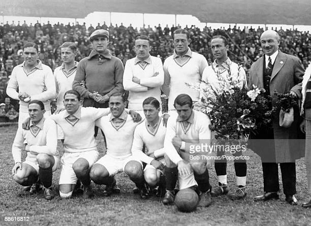 The French team prior to their FIFA World Cup match against Mexico at the Parque Central in Montevideo 13th July 1930 France won 41 Back row Augustin...