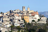 The French village of Biot on the French Riviera