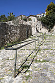 Steps and handrail in the French village of Biot on the French Riviera