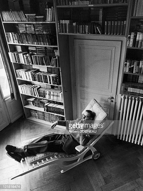 The French Writer At His Home Lying Down On A Deckchair
