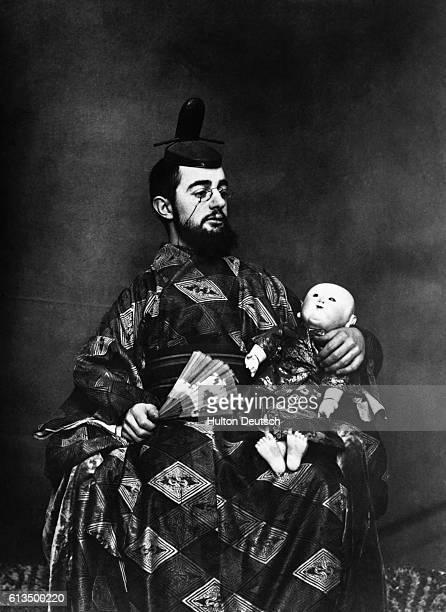 The Frenchborn painter Henri de ToulouseLautrec dressed in Oriental attire
