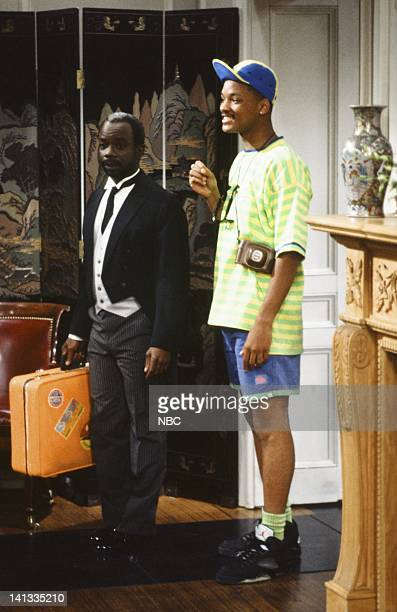 AIR 'The Fresh Prince Project' Episode 1 Pictured Joseph Marcell as Geoffrey Will Smith as William 'Will' Smith Photo by Chris Haston/NBCU Photo Bank