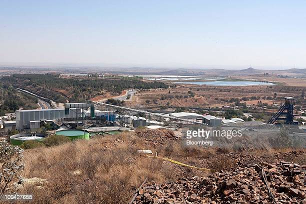 The Fresnillo Plc silver mine stands in Zacatecas Mexico on Wednesday Feb 23 2011 Fresnillo Plc which is 77 percent owned by Industrias Penoles SAB...