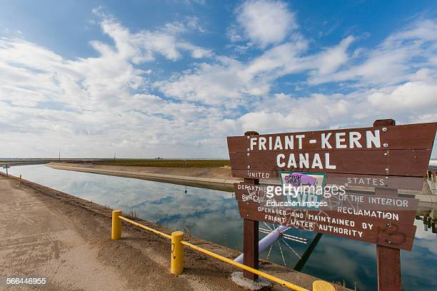 The FriantKern Canal is an irrigation canal and part of the Central Valley Project aqueduct Delano Kern County San Joaquin Valley California