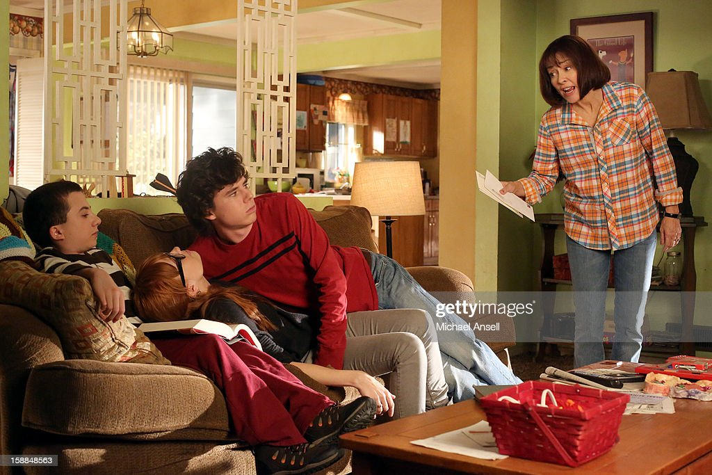 THE MIDDLE - 'The Friend' - Mike is upset with Frankie when he discovers that she set him up on an adult playdate with a new neighbor who shares the same interests. Meanwhile, when the school cheerleaders announce that they're taking over cheering for the wrestlers - thus putting Sue and her Wrestlerettes out of business - a determined Sue demands a cheer off; and Brick makes a lovesick Axl begin to question whether he's intellectually stimulating enough for his smart, new girlfriend, on 'The Middle,' WEDNESDAY, JANUARY 23 (8:00-8:30 p.m., ET) on the ABC Television Network. HEATON