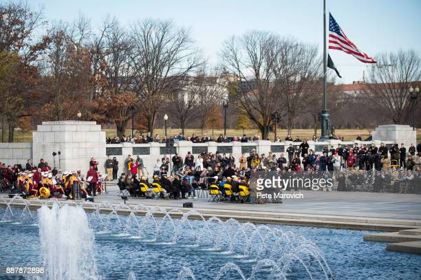The Friends of the National World War II Memorial and the National Park Service commemorate Pearl Harbor Remembrance Day on December 7 2017 in...