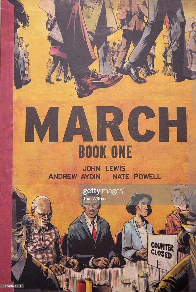 The front cover of the illustrated book March Book One by Rep. John Lewis, D-Ga., Andrew Aydin and Nate Powell.