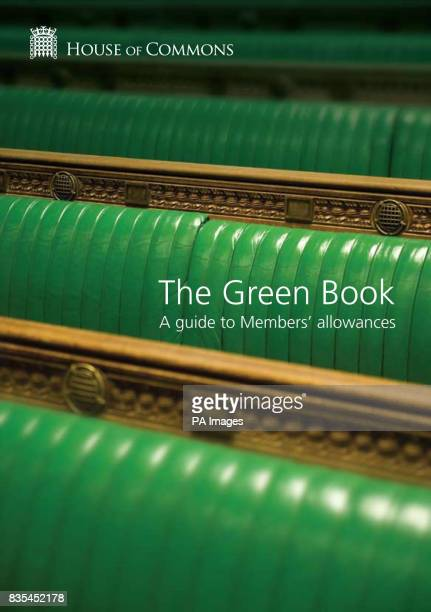 The front cover of the online version of The Green Book which is the guide to allowances that MPs at the House of Commons can claim