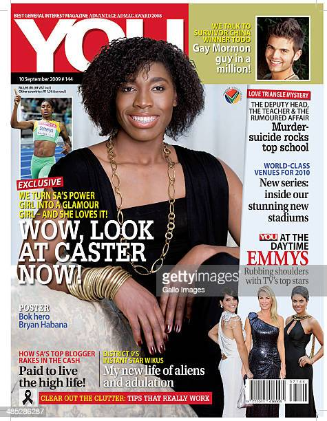 The front cover of You Magazine featuring Caster Semenya on September 10 2009 in South Africa