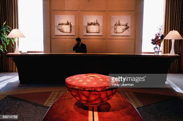 The front desk of the Four Season Hotel is photographed November 6 2003 in Miami Beach Florida In recent years Miami has become an art center for...