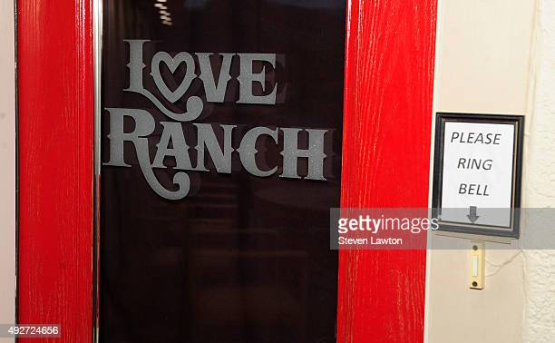 The Front door of the Love Ranch Las Vegas brothel is shown on October 14 2015 in Crystal Nevada Former NBA player Lamar Odom was found unconscious...