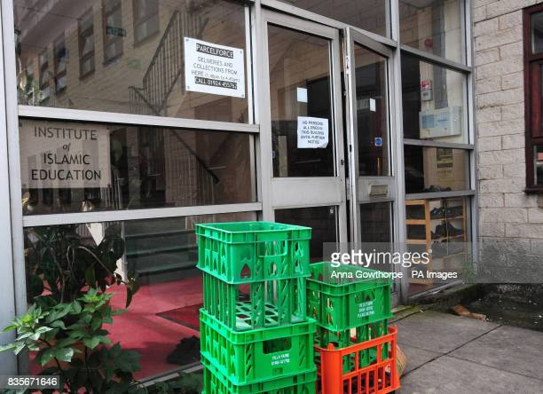 The front entrance to the Institute of Islamic Education in Savile Town Dewsbury West Yorkshire where teacher Abdullah Patel is said to have worked...