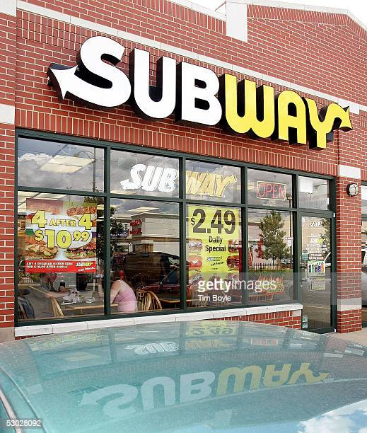 The front facade of a Subway restaurant is shown June 6 2005 in Chicago IllinoisSubway's Sub Club Customer Appreciation Card program is being...