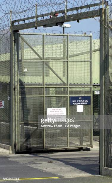 The front gates at the entrance of Maghaberry Prison in Northern Ireland where Loyalist Billy Adair is back behind bars on the orders of Northern...