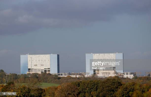 The front of Hinkley Point A nuclear power station near Bridgwater on November 12 2013 in Somerset England EDF who last month announced it was to...