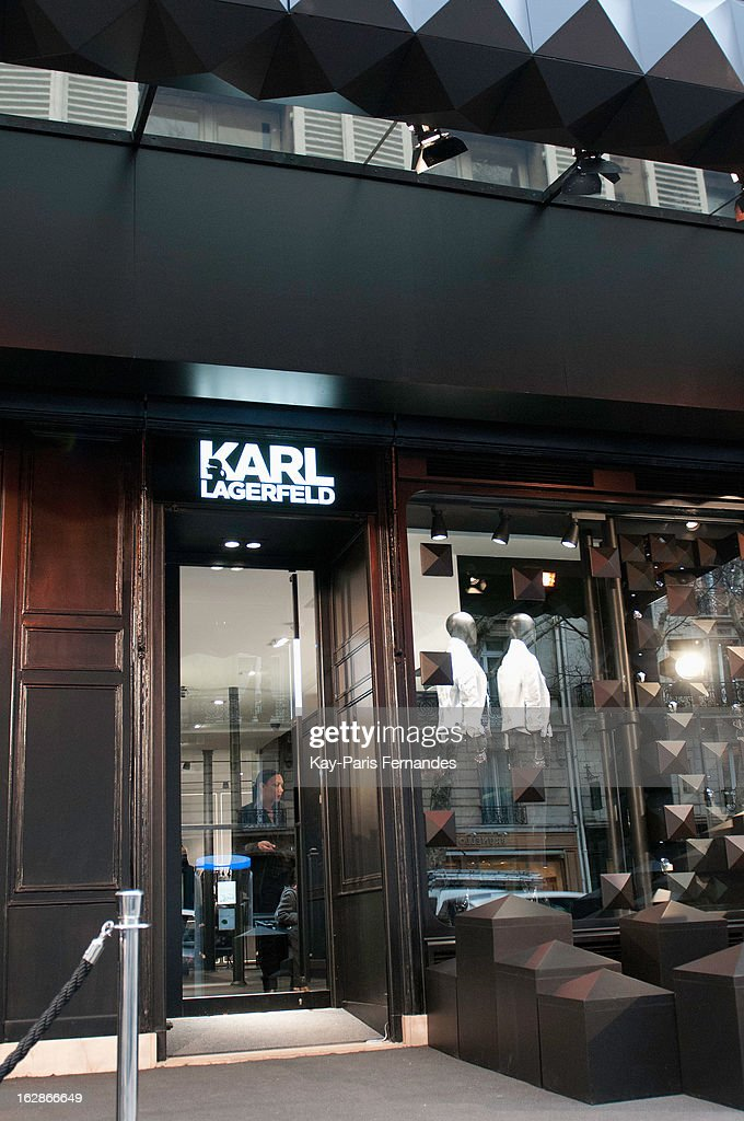 The front of the Karl Lagerfeld's Concept Store Opening as part of Paris Fashion Week on February 28, 2013 in Paris, France.