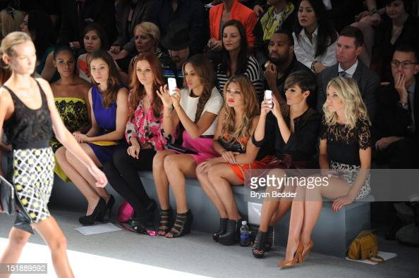 The front row at Milly By Michelle Smith Spring 2013 fashion show during Spring 2013 MercedesBenz Fashion Week at Lincoln Center for the Performing...