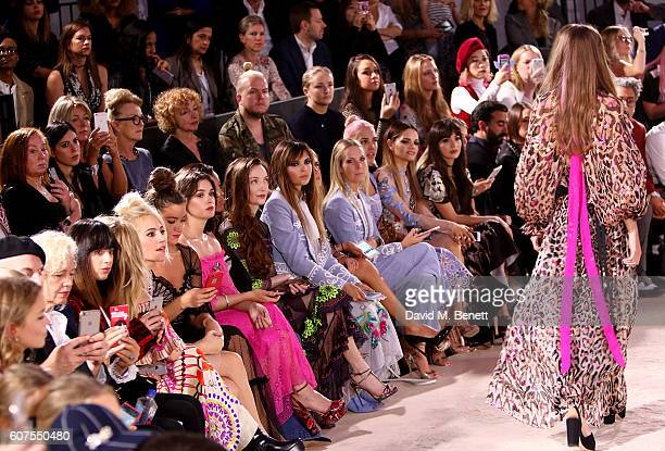 The front row including Ellen Von Unwerth Foxes Pixie Lott Sai Bennett Serayah McNeill Olivia Grant Doina Ciobanu Alice Naylor Leyland Amber Le Bon...