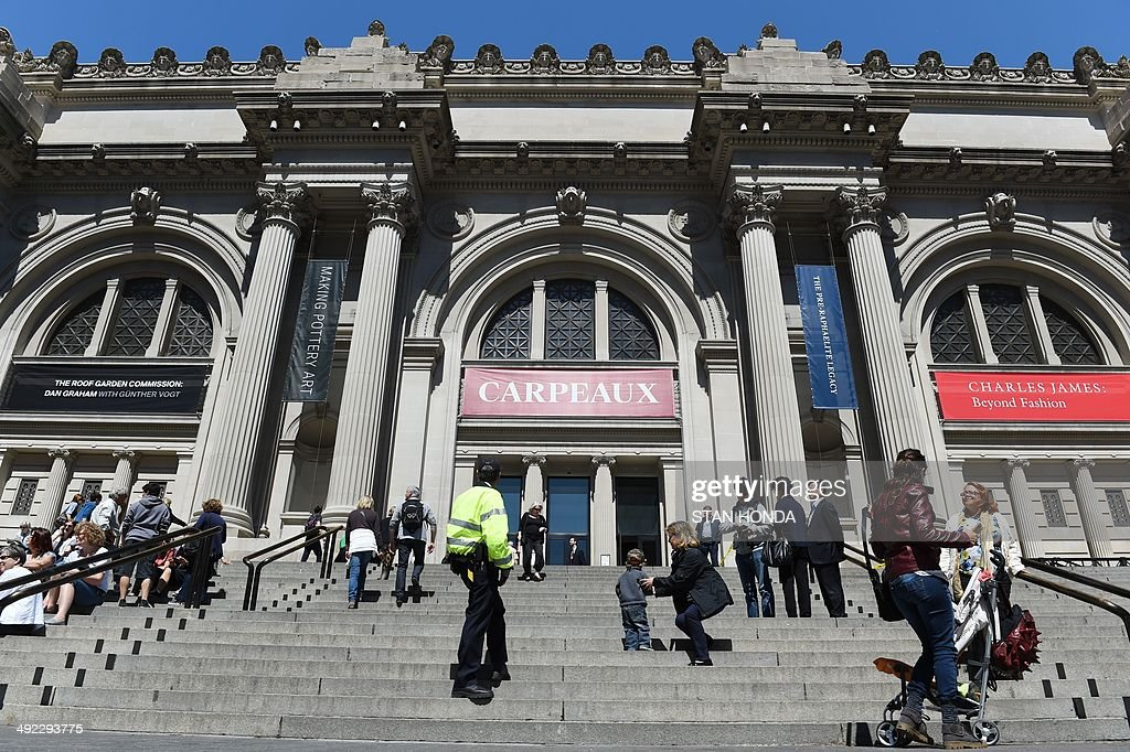 The front steps and entrance to The Metropolitan Museum of Art May 19 2014 in New York AFP PHOTO/Stan HONDA